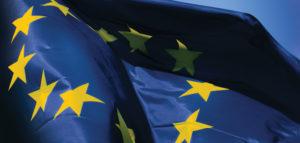 Daten Datenschutz DSGVO Videoüberwachung EU-Flagge