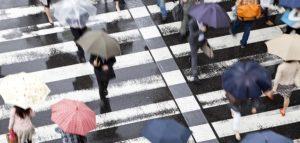 Regentropfen machen eine intelligente Stadt