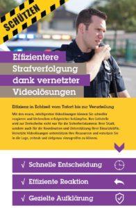 Infografik Effizientere Strafverfolgung dank vernetzter Videolösungen