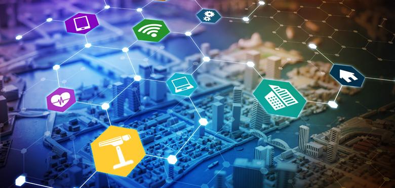 Smart City intelligente Städte Netzwerk Kamera