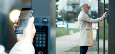 Kombination aus Netzwerk-Türstation und QR-Codes