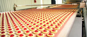 Cookie production in factory