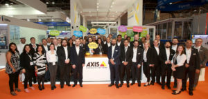 Axis staff at intersec Dubai 2018