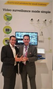Axis Communications stands with Security Today's New Product of the Year award for AXIS Companion Bullet mini LE