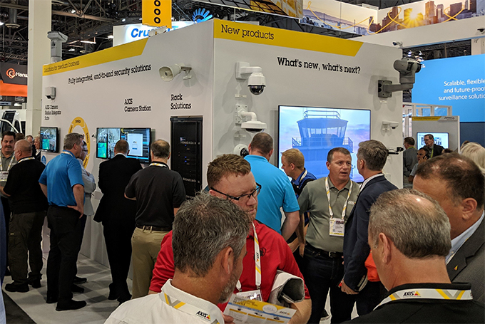 The Axis booth was bustling with professionals looking to get a glimpse of the latest solutions and technology.