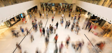 People walking in a shopping mall