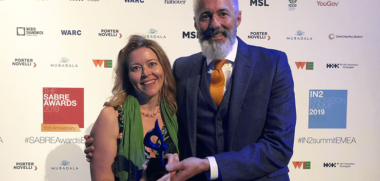 Best use of blog award SABRE award 2019