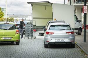 Cars blocking loading zone