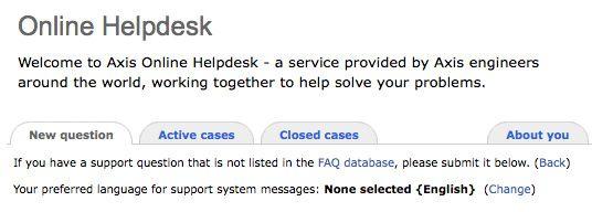 Online helpdesk