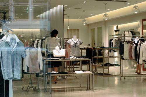 Deptstore clothing store interior indoor