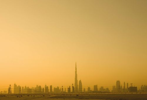 Dubai sunset skyline