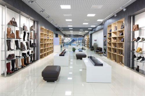Shoe store interior