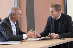 Johan Paulsson, Axis Chief Technology Officer and Ray Mauritsson, Axis President and CEO.