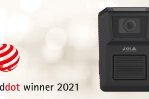 AXIS W100 Body Worn Camera wins Red Dot for high design quality