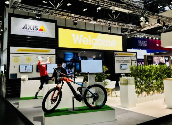 Messestand Axis Communications EuroCIS 2018