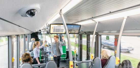 IP cameras on buses and trains help keeping passengers safe