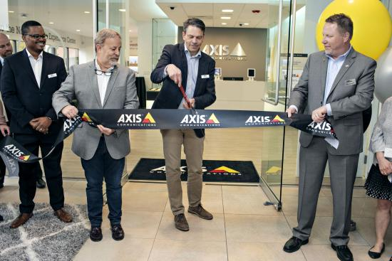 Axis Communications AEC ribbon cutting