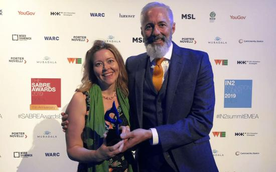 Lena Hedén and Mark Pinsent at the INSABRE award ceremony