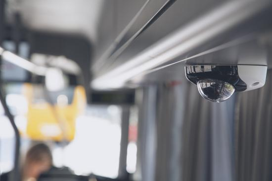 AXIS P3925-R Onboard Camera in a bus