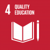 The 4th UN goal named quality education