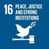 The 16th UN goal named peace, justice and strong institutions