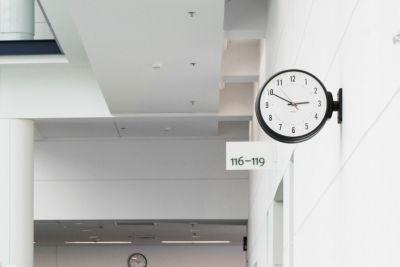 Clock hallway