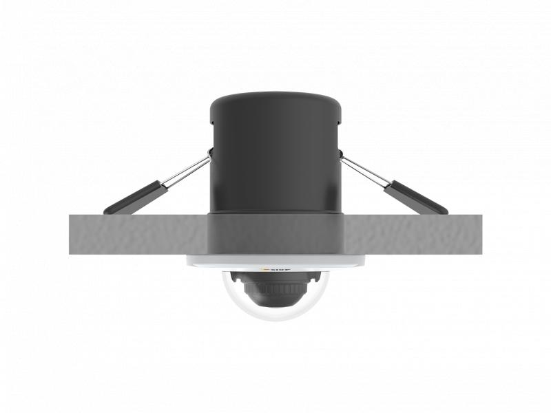 IP Camera AXIS M3015 has HDTV 1080p / 2 MP and Axis Corridor Format. The camera is viewed from ceiling.
