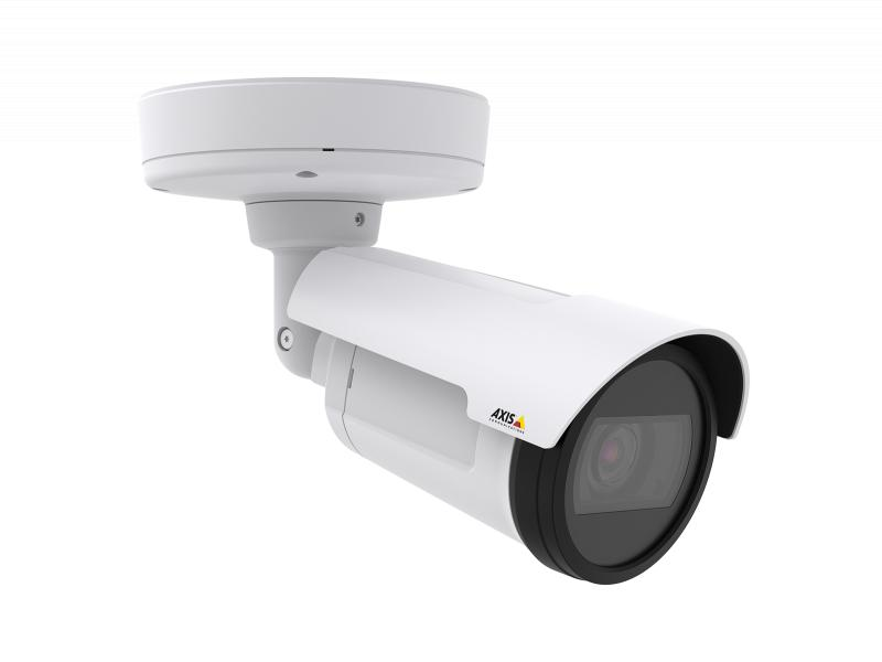 AXIS P1435-LE IP Camera, mounted in the ceiling and viewed from its right angle