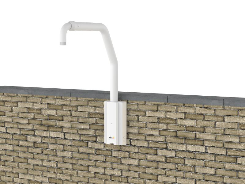 AXIS T91D62 Telescopic mounted on brick wall
