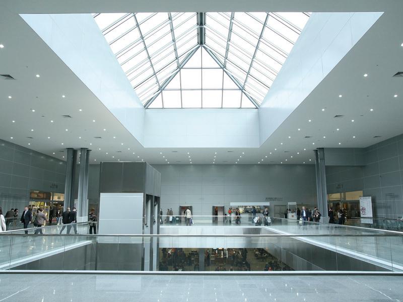 Copenhagen metro station building with atrium