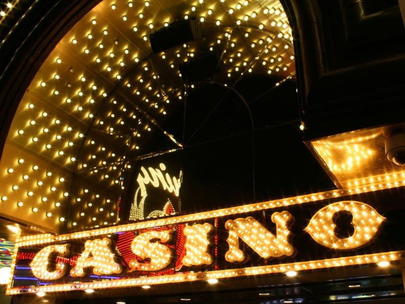 Casino sign in neon