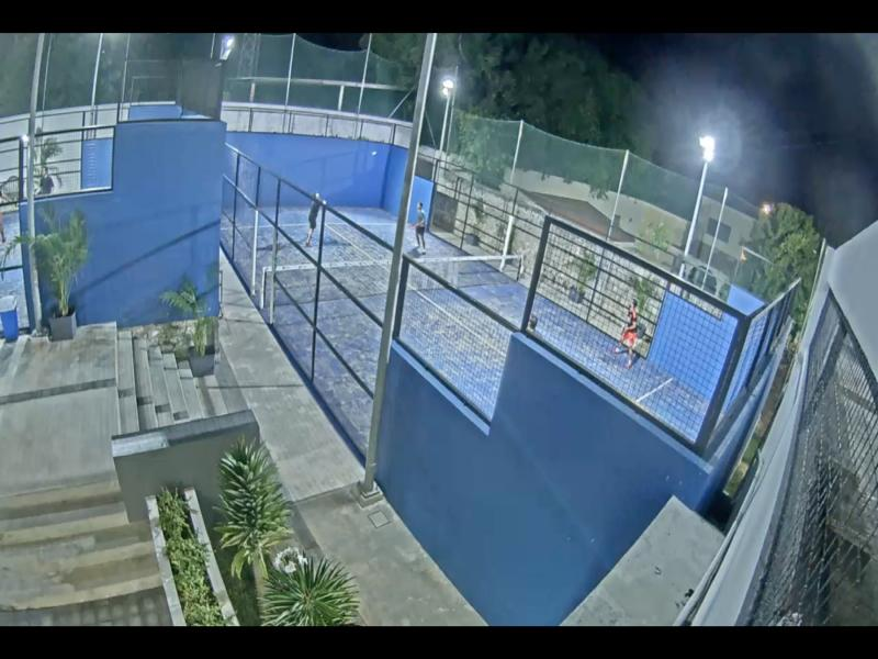 Surveillance image of batting cages at Club Deportivo