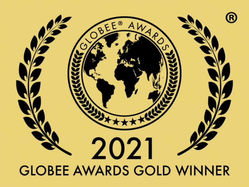 Emblem indicating project is a Gold Winner of the 2021 Cyber Security Global Excellence Awards
