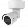 AXIS M2026-LE Mk II IP Camera is outdoor-ready with built in IR. Viewed from its left angle.