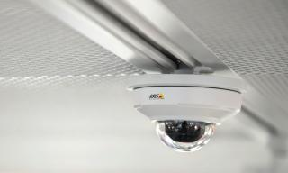 Axis IP camera mounted in the ceiling