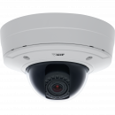 AXIS P3364-VE is an IP camera with lightfinder technology and P-Iris control. The camera is viewed from its front.