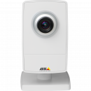 AXIS M1014 is a small HDTV IP camera with edge storage. The camera is viewed from its front.