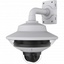 IP Camera AXIS Q6000-E has one-click PTZ control and exchangeable and tiltable lenses Viewed from it´s front.