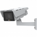 AXIS M1137-E IP Camera has Lightfinder and Forensic WDR. The product is viewed from its left angle.