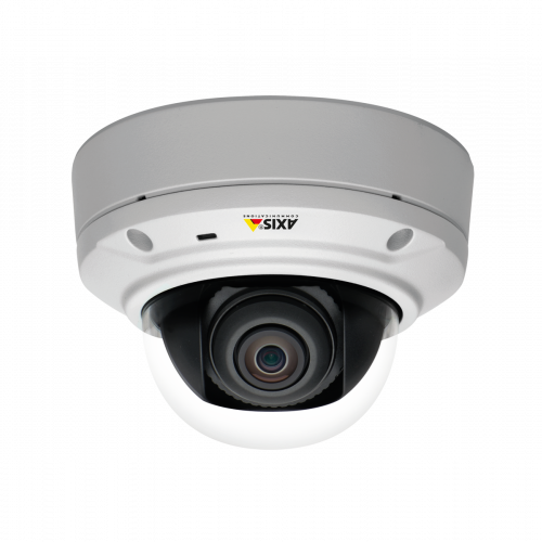 IP Camera AXIS m3026ve has compact, vandal-resistant, outdoor-ready design. The camera is viewed from its´ front.