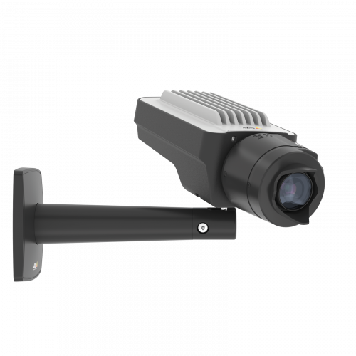 AXIS Q1645 IP Camera in black color. Viewed from its right angle.