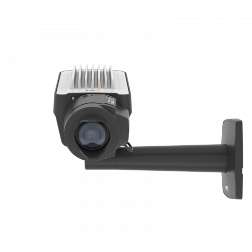 AXIS Q1645 IP Camera, wall mounted and viewed from its front.