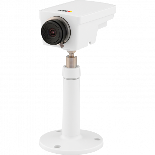 AXIS M1104 IP Camera is a compact and affordable HDTV camera. The product is viewed from its left angle.