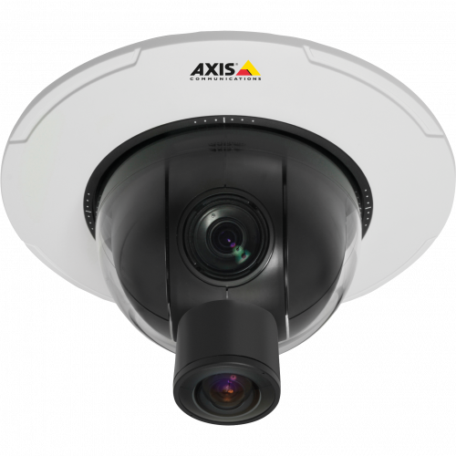 IP Camera AXIS P5544 has advanced gatekeeper functionality and PoE+. The camera is viewed from it´s front.