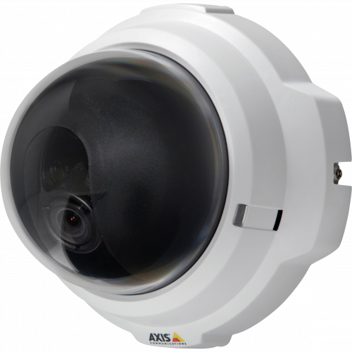 IP Camera AXIS M3203 has intelligent video capabilities and excellent image quality. The camera is viewed from it´s left,