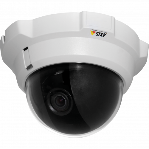 IP Camera AXIS P3301 has superior image quality and ONVIF support. The camera is viewed from it´s left.