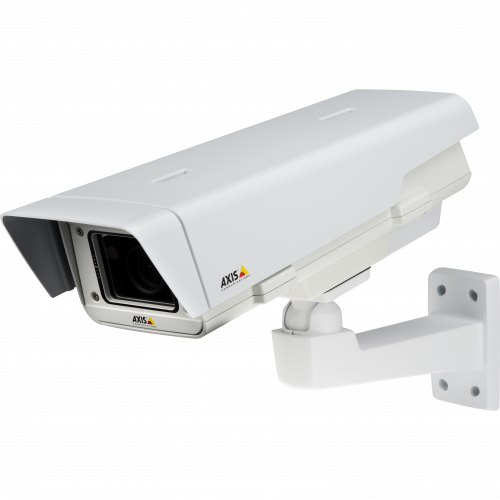 IP Camera AXIS P1353-E has superb image quality with SVGA resolution and edge storage. The camera is viewed from it´s left.