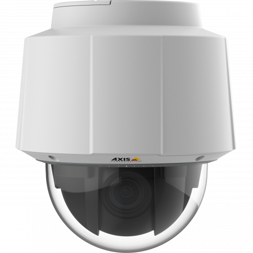 AXIS Q6052 is an indoor PTZ camera with 36x zoom and Lightfinder technology. The camera is viewed from its front.