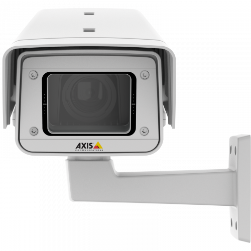 AXIS Q1615-E Mk II IP Camera has included i-CS lens. The product is viewed from its front.