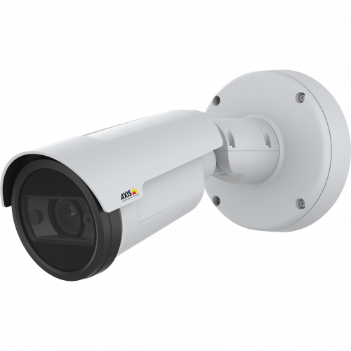 AXIS P1448 LE IP Camera, viewed from its left angle